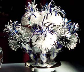 Silver and Blue Anniversary Centerpiece