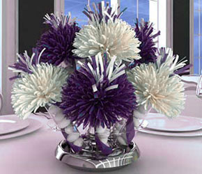 Purple and White Centerpiece