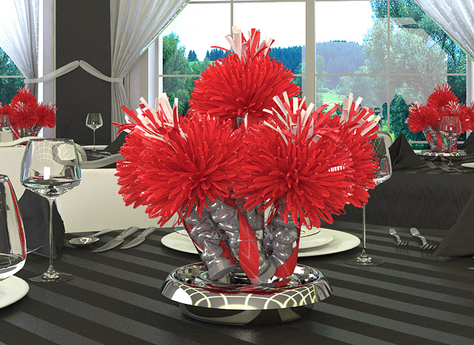 Red Birthday Centerpiece
