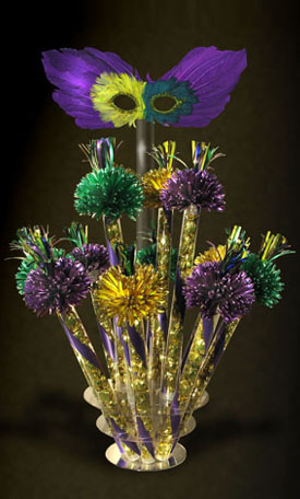 Mardi Gras Centerpiece Close Up