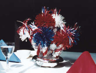 Patriotic Centerpiece Close Up