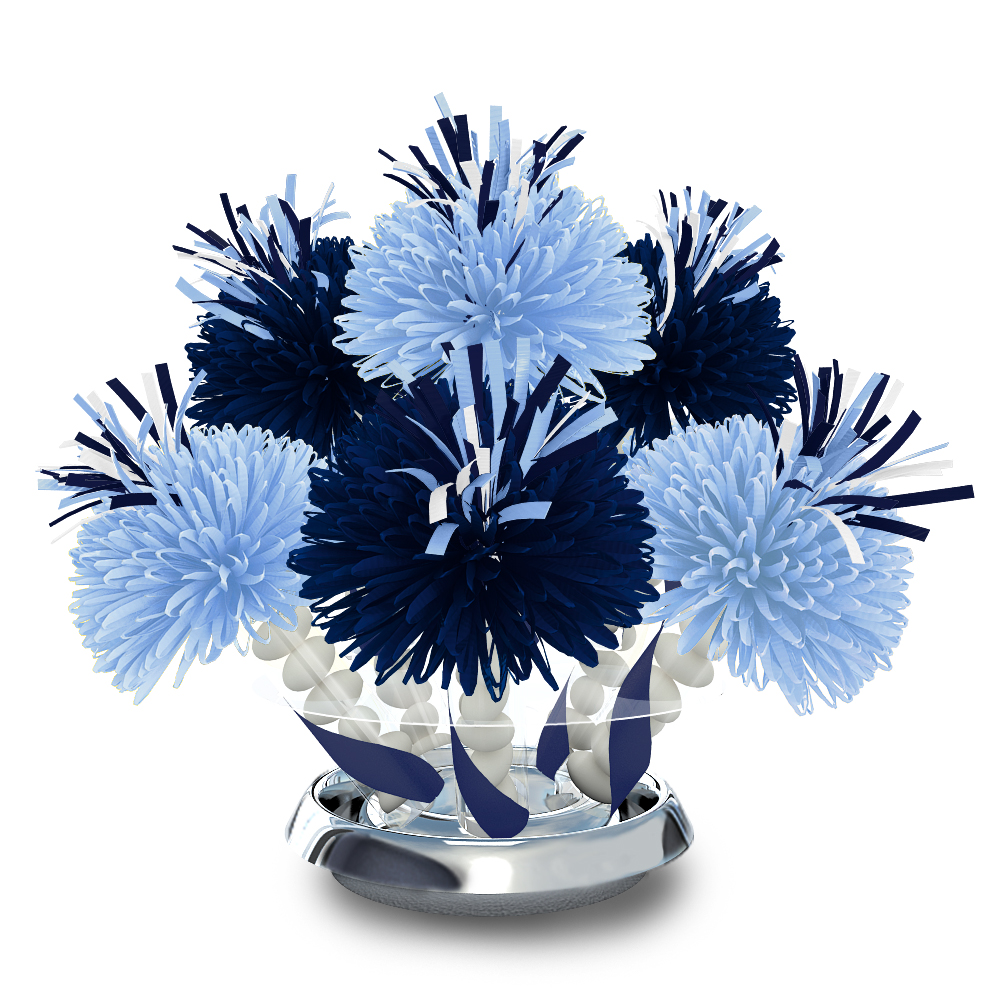 Navy and light blue sports team centerpiece wanderfuls