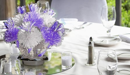 Wanderful White and Lavender Centerpiece
