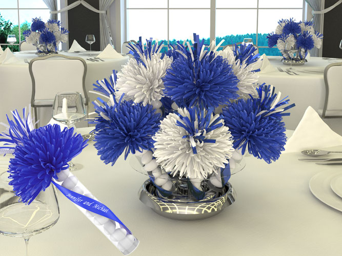 Malt-o-Meals Company Party Design In Blue And White