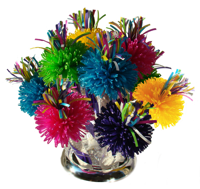 Multi-colored Wanderfuls Centerpiece For Sarah's Spring Garden Party.