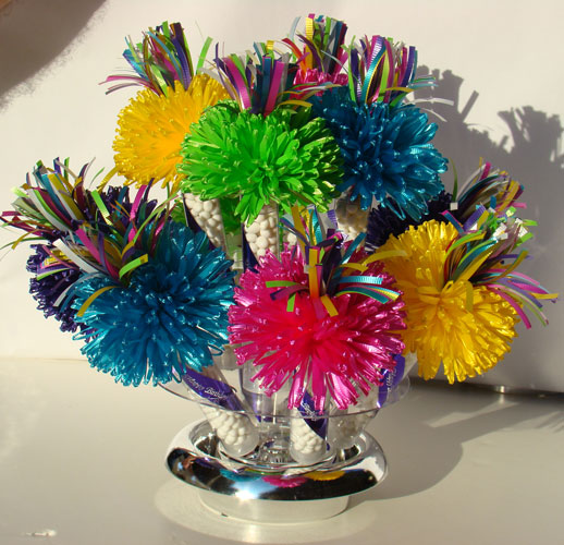 Multicolored Centerpiece Created By Wanderfuls For Kelly's Sweet 16 Spring Party.