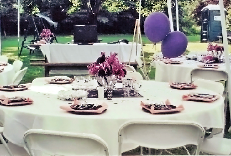 Purple Themed Outdoor Party
