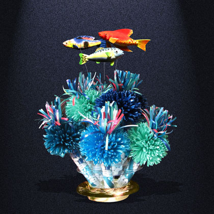 Under The Sea Themed Centerpiece Created For A Fun And Festive Birthday Party.