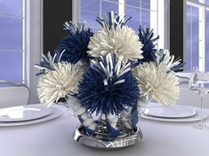 Navy Blue And White Centerpieces