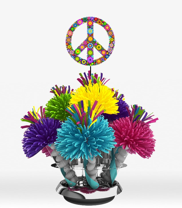 Themed party centerpieces and wedding centerpieces by for 60s party decoration