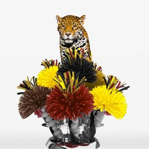 African Jungle Safari Leopard Centerpiece