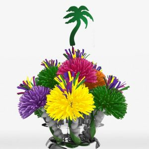 Hawaiian Luau Tropical Palm Tree Centerpiece