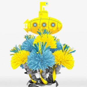 Hippie Themed Yellow Submarine Centerpiece