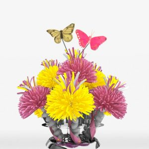 Pink And Yellow Butterfly Centerpiece