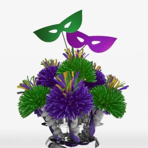 Purple And Green New Orleans Mardi Gras Centerpiece