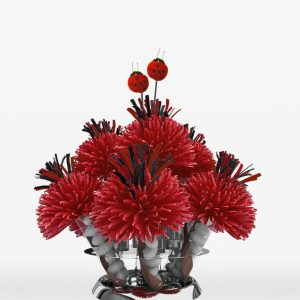 Red Lady Bug Centerpiece