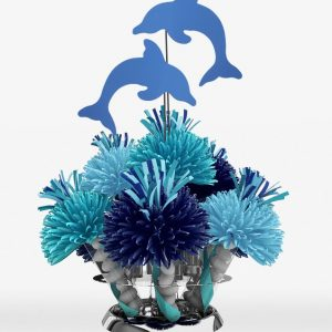 Tropical Hawaiian Luau Blue Dolphin Centerpiece