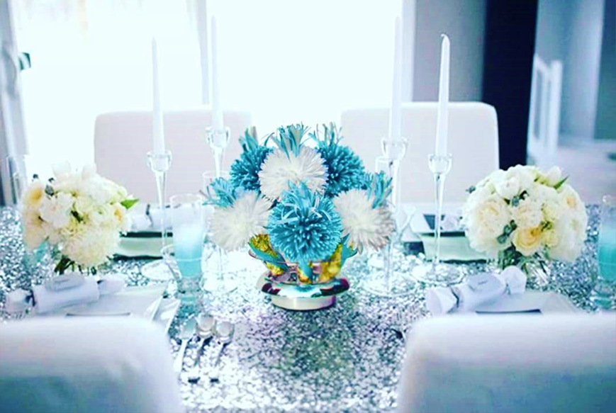 Baptism Centerpieces by Wanderfuls