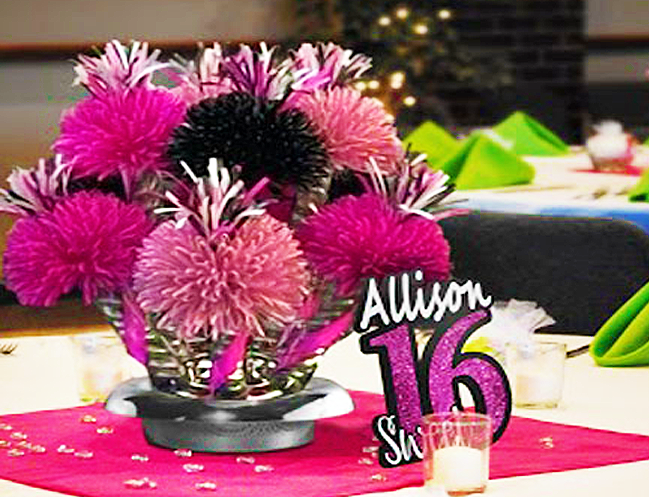 Sweet 16 Centerpieces 3