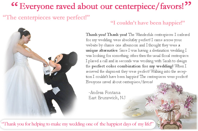 Wedding Centerpiece - Testimonial 1